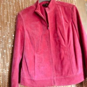 Valerie Stevens genuine leather moto jacket - S